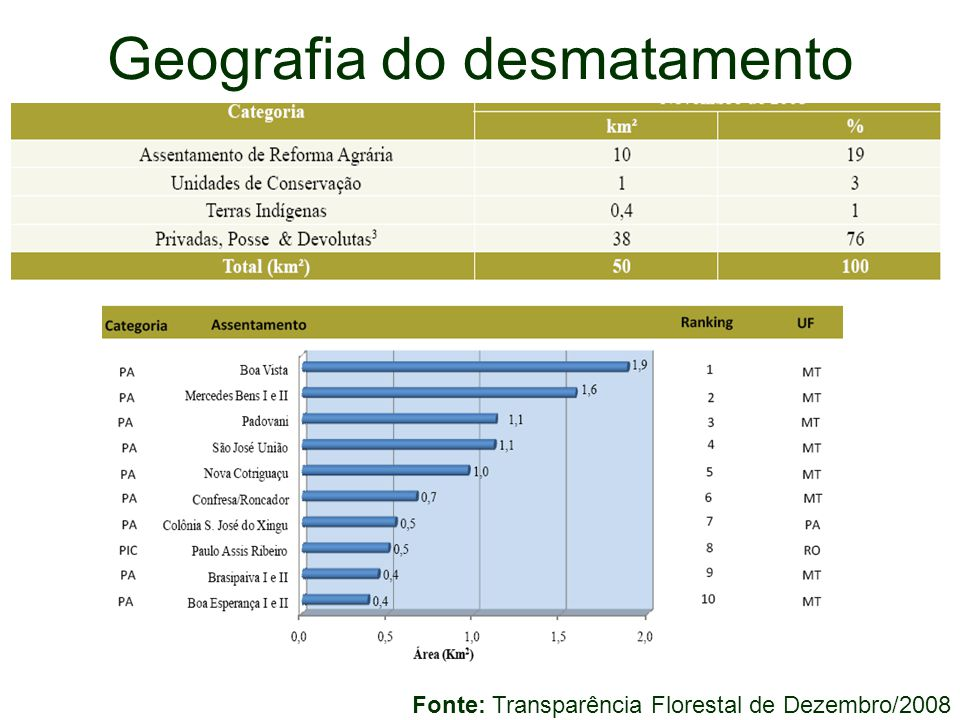 Geografia do desmatamento