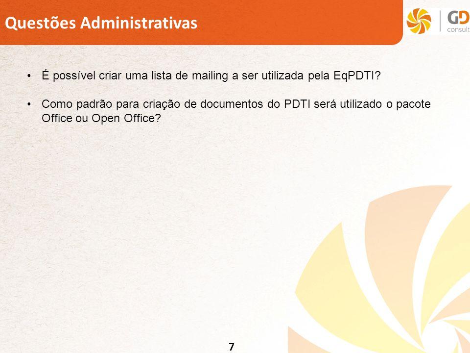 Questões Administrativas