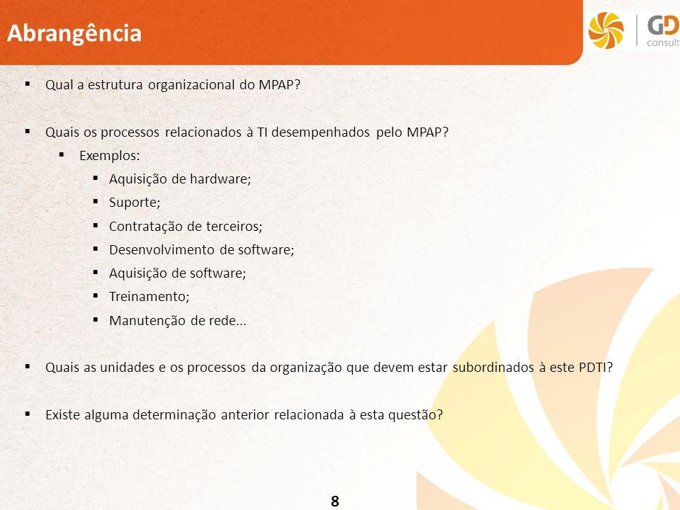 Abrangência 8 Qual a estrutura organizacional do MPAP