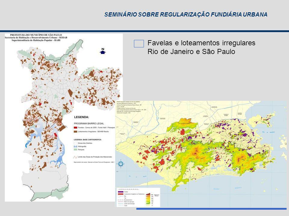Favelas e loteamentos irregulares