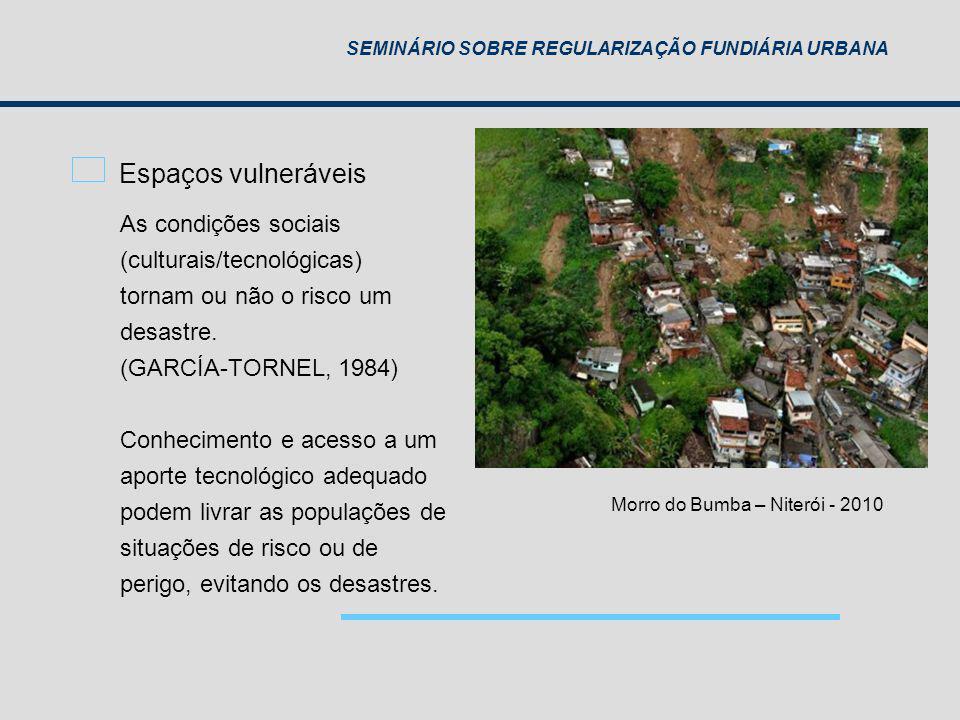 Espaços vulneráveis As condições sociais (culturais/tecnológicas)