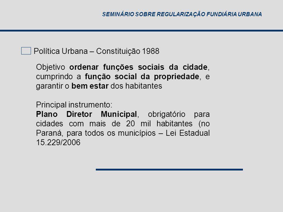 Política Urbana – Constituição 1988