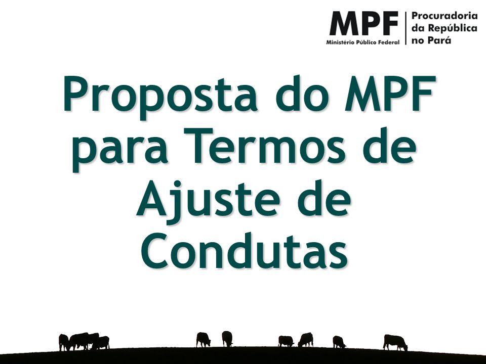 Proposta do MPF para Termos de Ajuste de Condutas