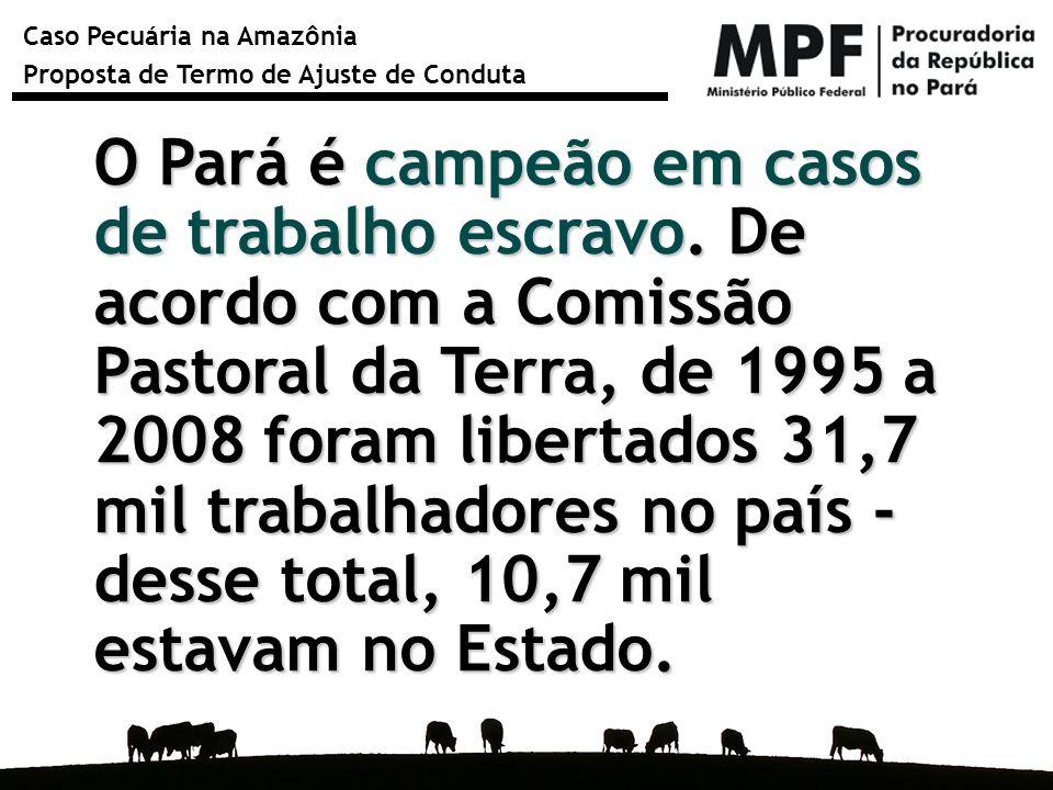 O Pará é campeão em casos de trabalho escravo