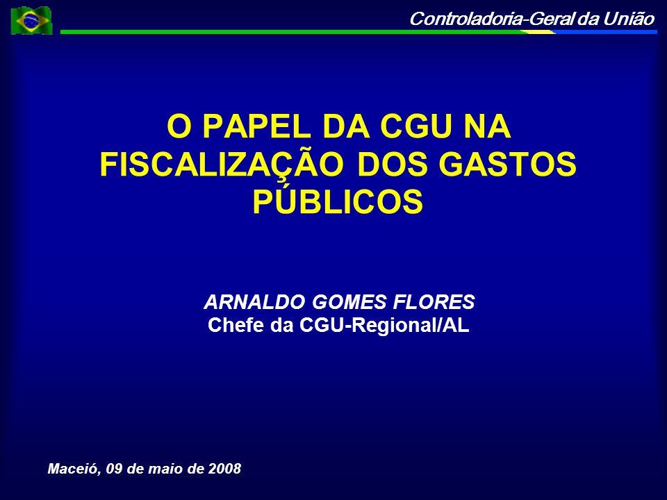 O PAPEL DA CGU NA FISCALIZAÇÃO DOS GASTOS PÚBLICOS
