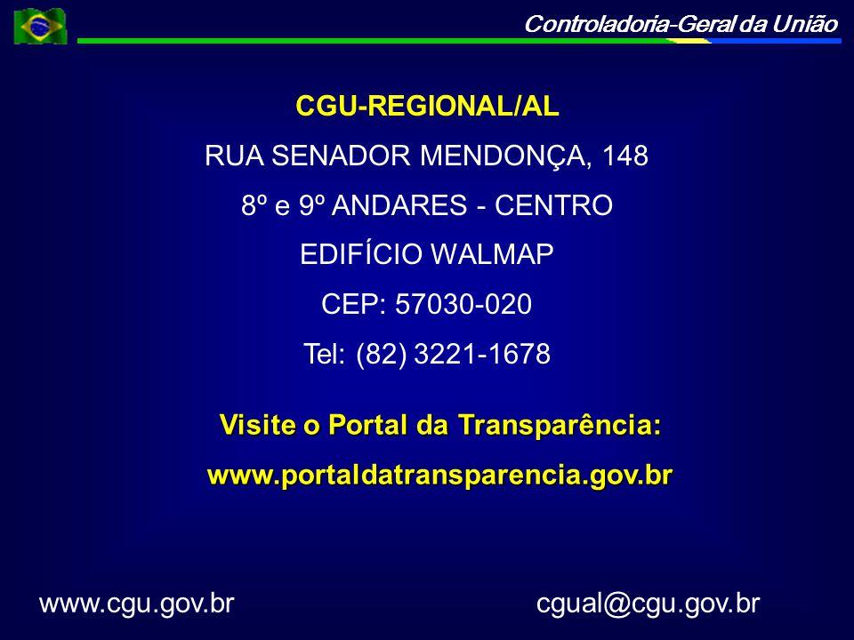 Visite o Portal da Transparência: