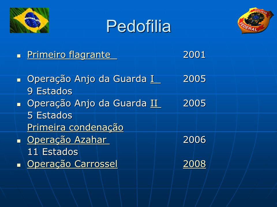 Pedofilia Primeiro flagrante 2001 Operação Anjo da Guarda I 2005