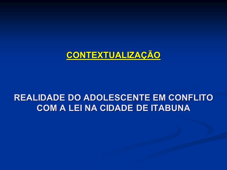 CONTEXTUALIZAÇÃO REALIDADE DO ADOLESCENTE EM CONFLITO COM A LEI NA CIDADE DE ITABUNA