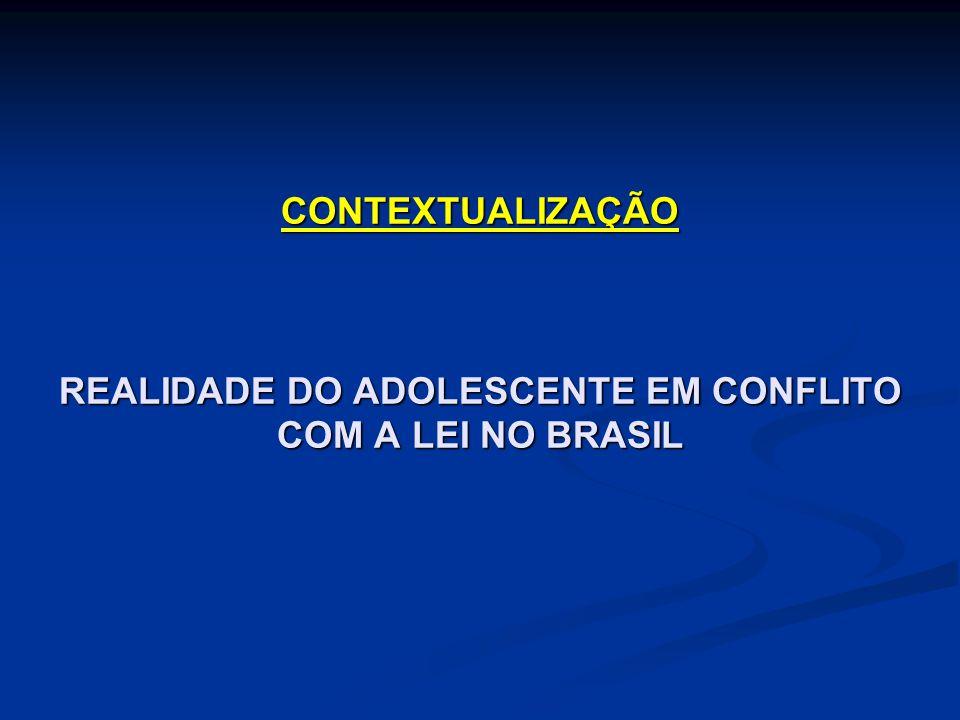 CONTEXTUALIZAÇÃO REALIDADE DO ADOLESCENTE EM CONFLITO COM A LEI NO BRASIL