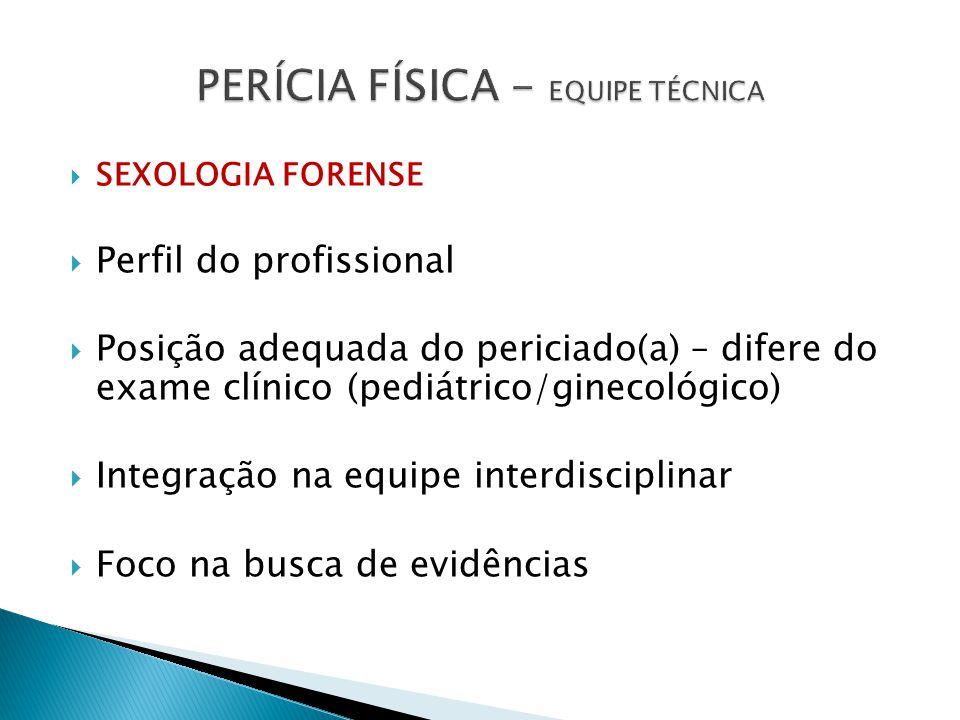PERÍCIA FÍSICA - EQUIPE TÉCNICA