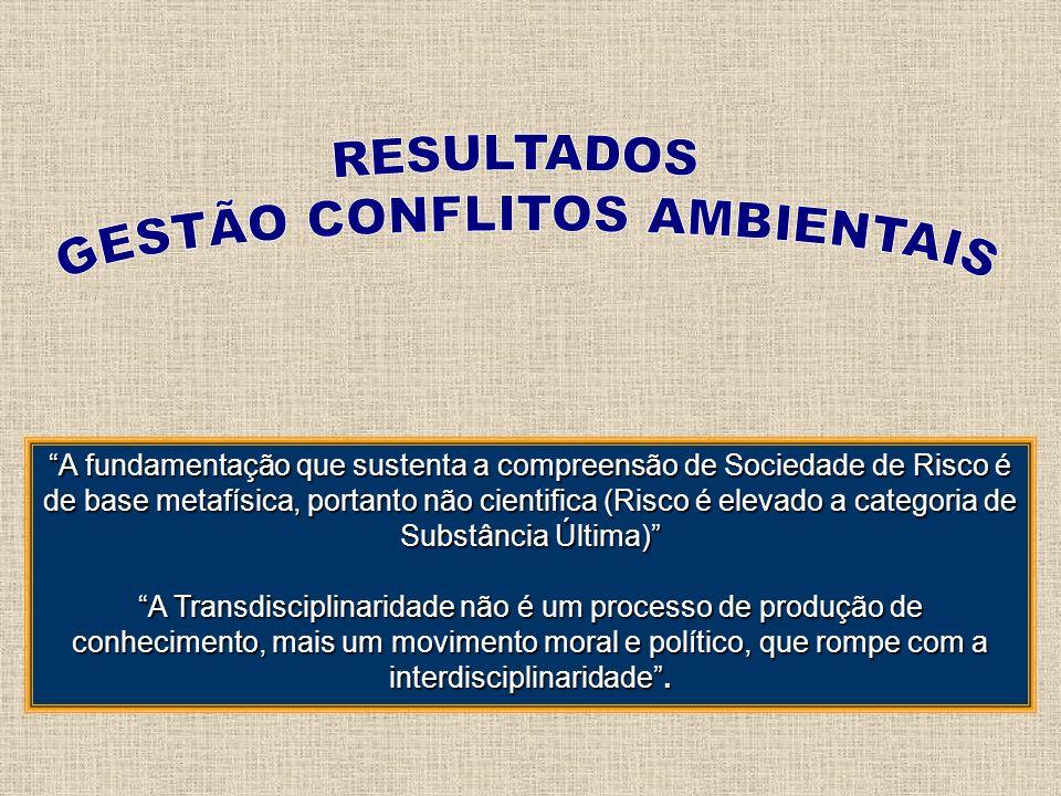 GESTÃO CONFLITOS AMBIENTAIS