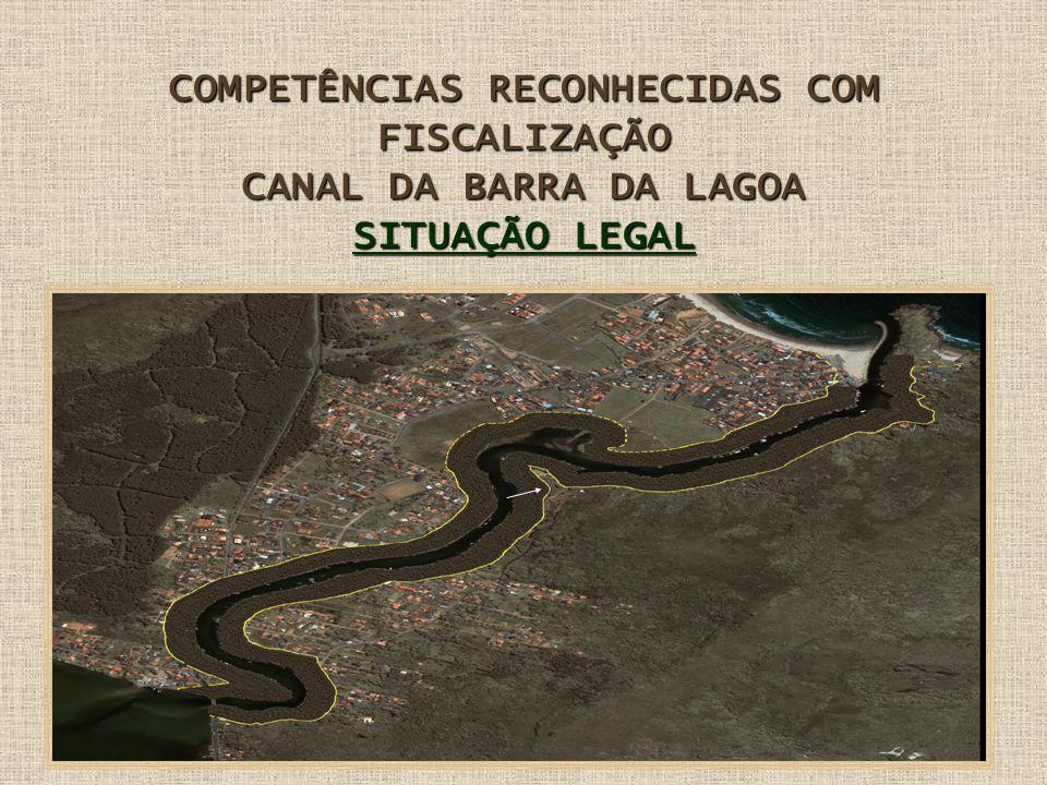 COMPETÊNCIAS RECONHECIDAS COM FISCALIZAÇÃO CANAL DA BARRA DA LAGOA SITUAÇÃO LEGAL