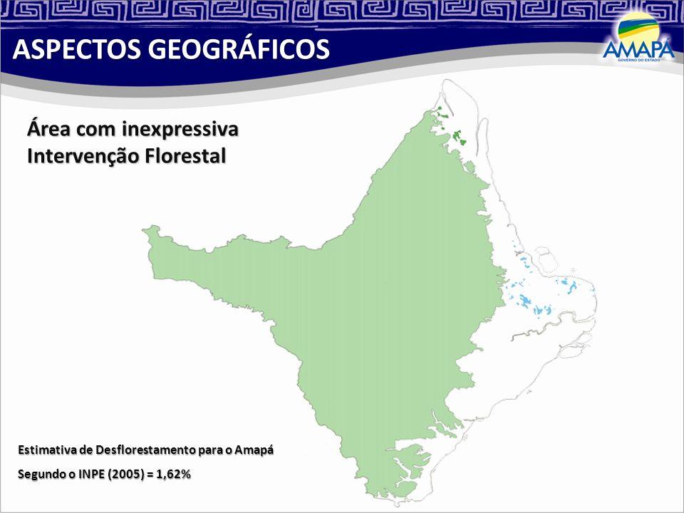 ASPECTOS GEOGRÁFICOS Área com inexpressiva Intervenção Florestal
