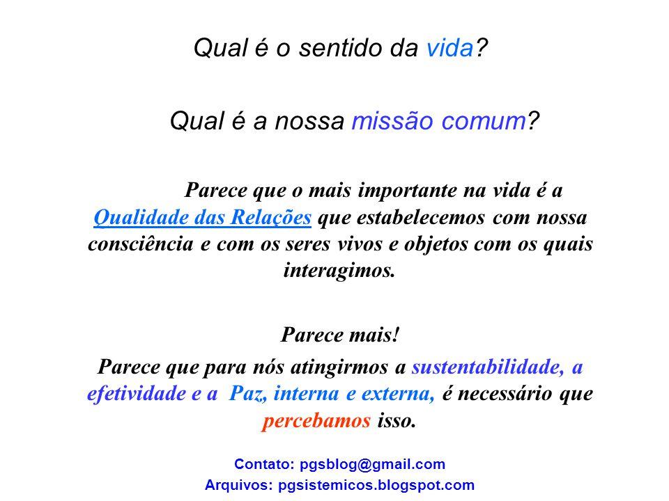 Contato: pgsblog@gmail.com Arquivos: pgsistemicos.blogspot.com
