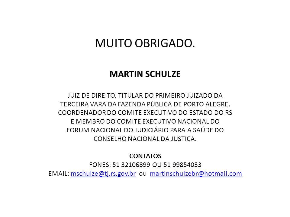 MUITO OBRIGADO. MARTIN SCHULZE