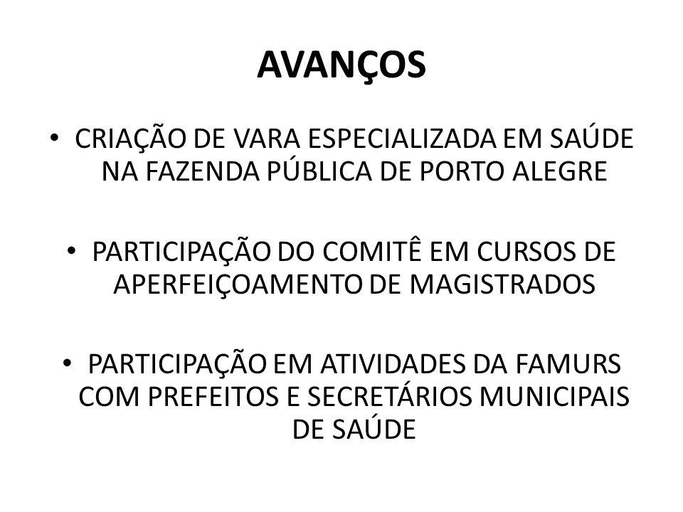 PARTICIPAÇÃO DO COMITÊ EM CURSOS DE APERFEIÇOAMENTO DE MAGISTRADOS