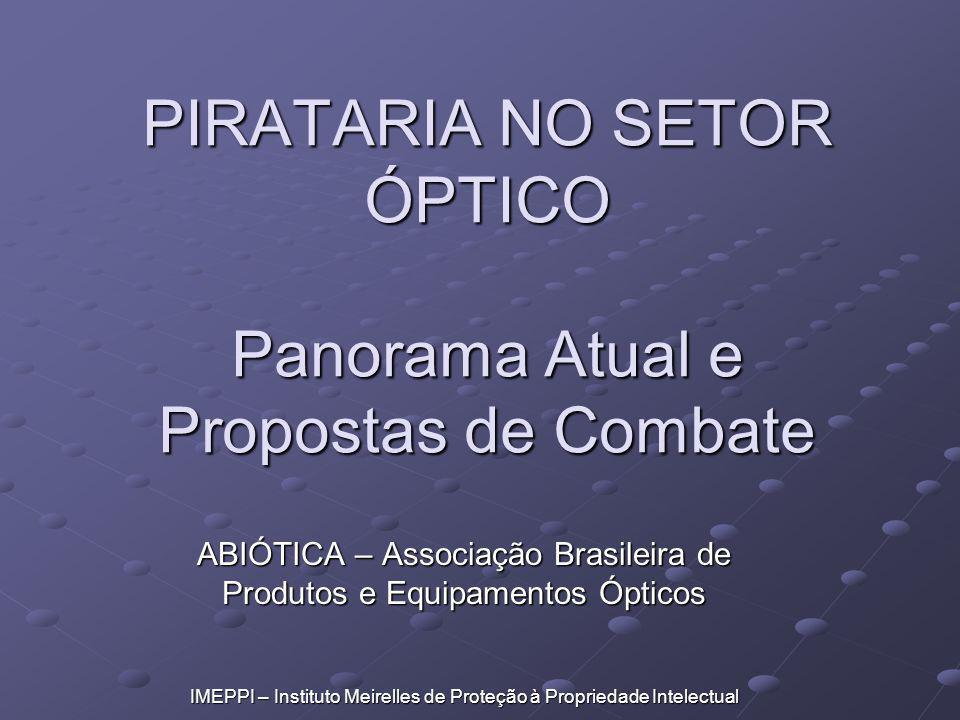 PIRATARIA NO SETOR ÓPTICO Panorama Atual e Propostas de Combate