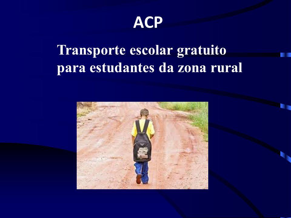 Transporte escolar gratuito para estudantes da zona rural