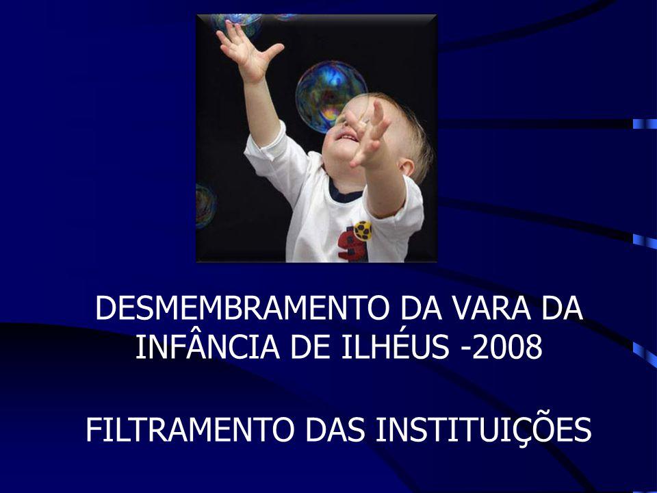 DESMEMBRAMENTO DA VARA DA INFÂNCIA DE ILHÉUS -2008