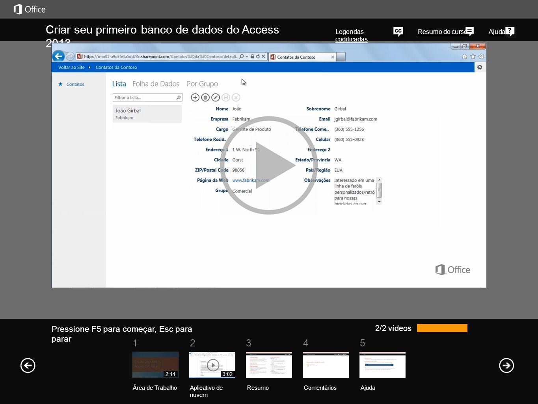 Criar seu primeiro banco de dados do Access 2013