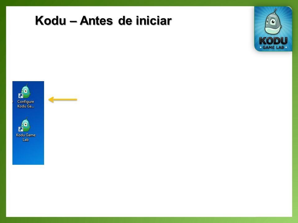 Kodu – Antes de iniciar