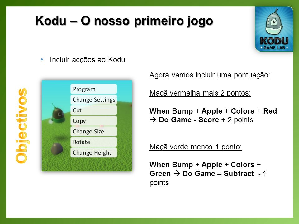 Kodu – O nosso primeiro jogo