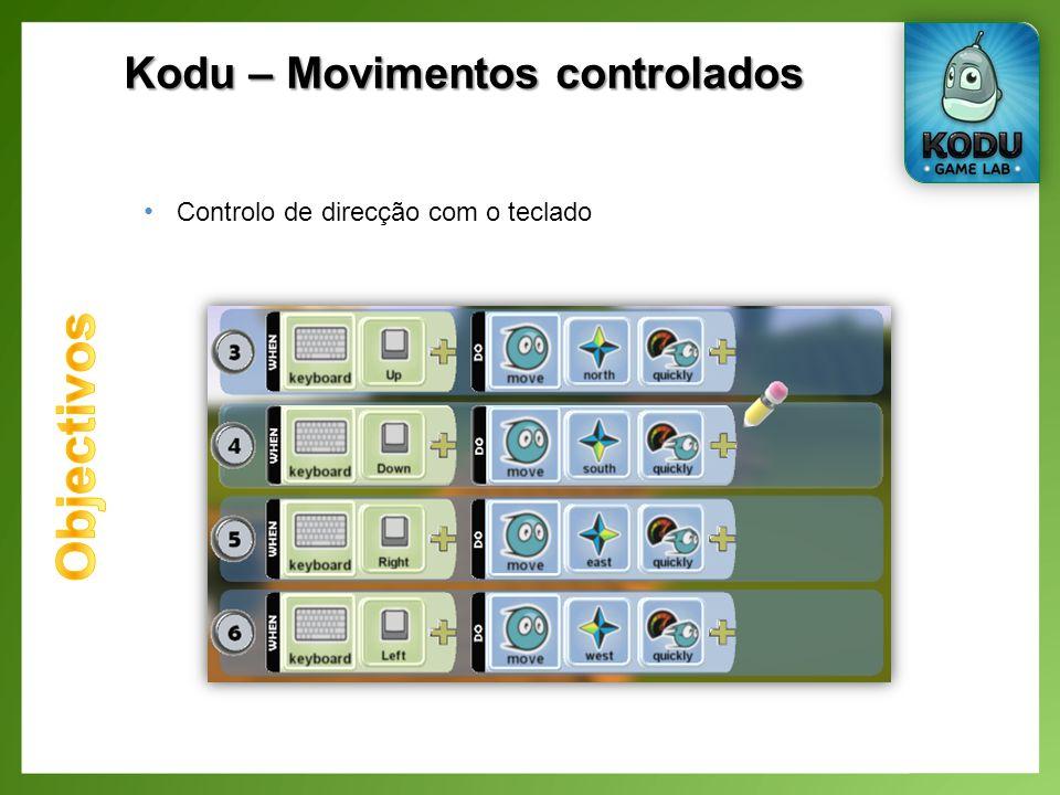 Kodu – Movimentos controlados