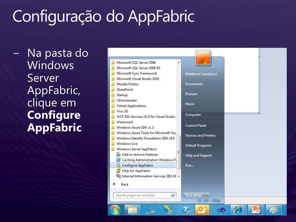 Configuração do AppFabric