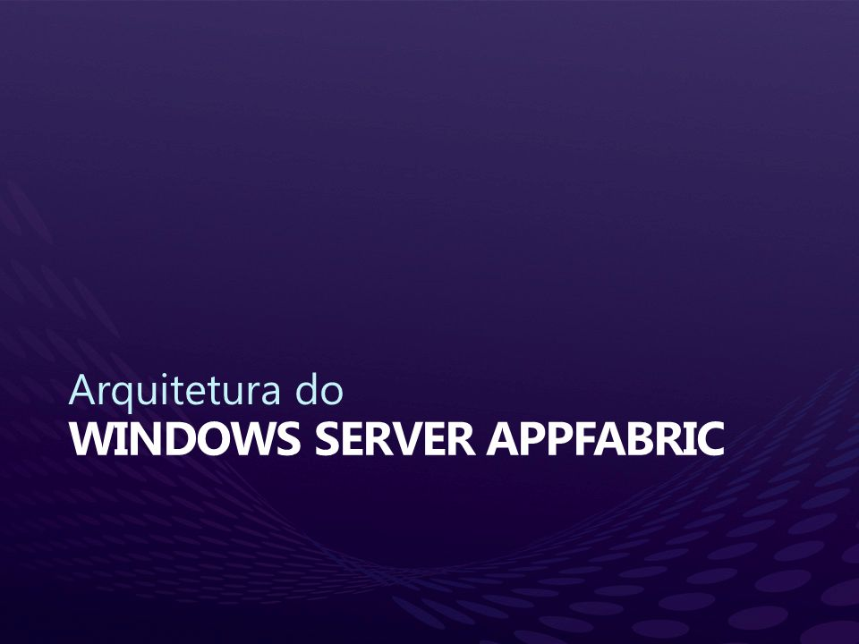 Windows server appfabric