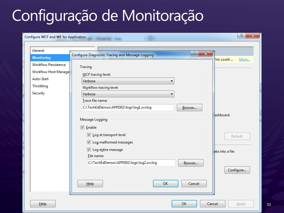 Configuração de Monitoração