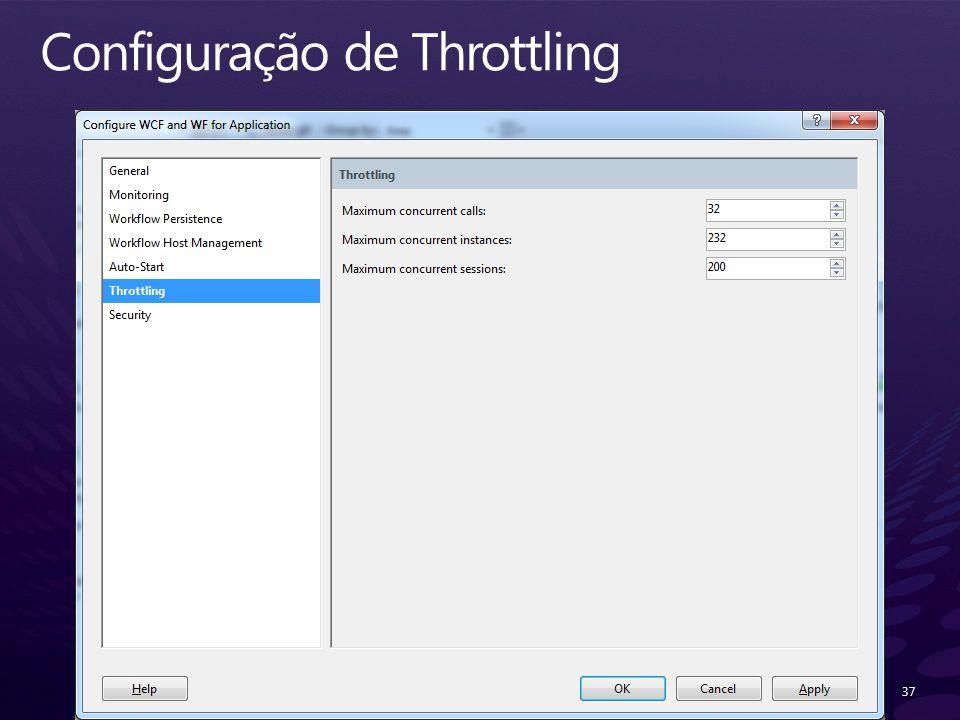 Configuração de Throttling