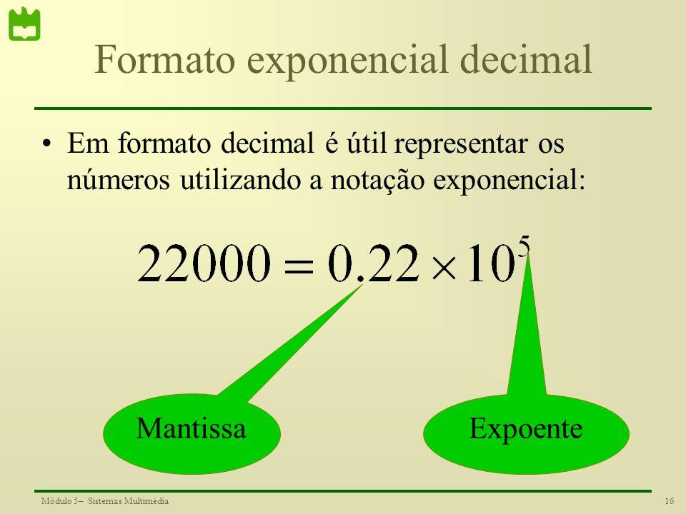 Formato exponencial decimal