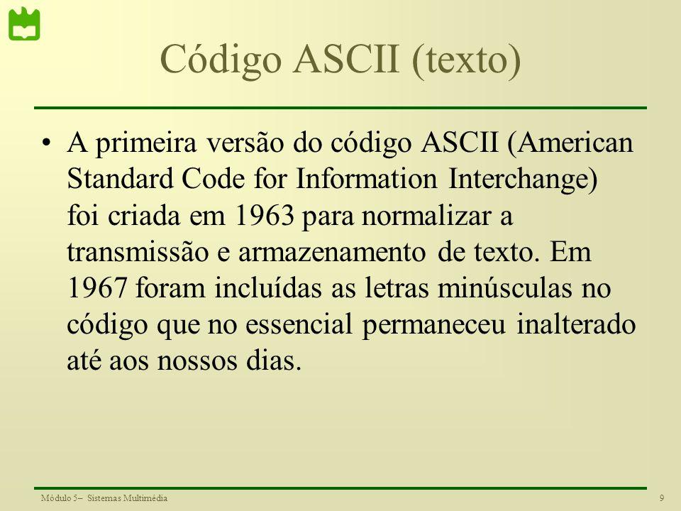 Código ASCII (texto)