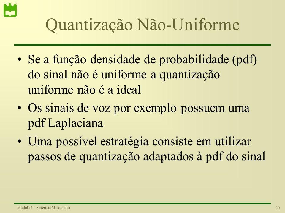 Quantização Não-Uniforme