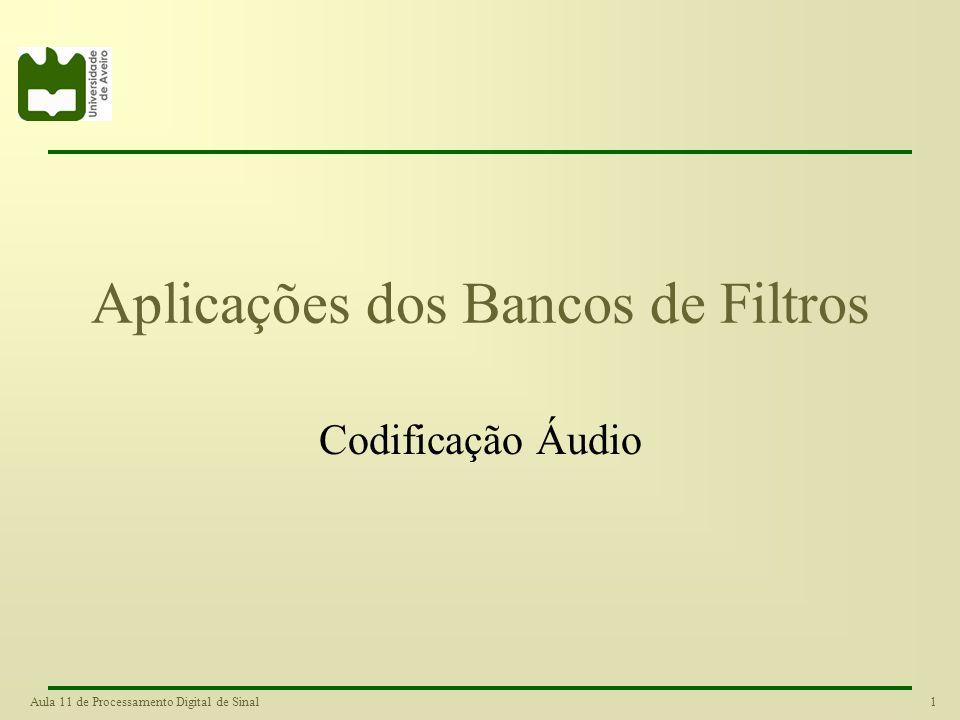 Aplicações dos Bancos de Filtros