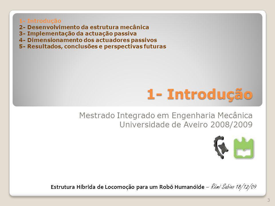 1- Introdução Mestrado Integrado em Engenharia Mecânica