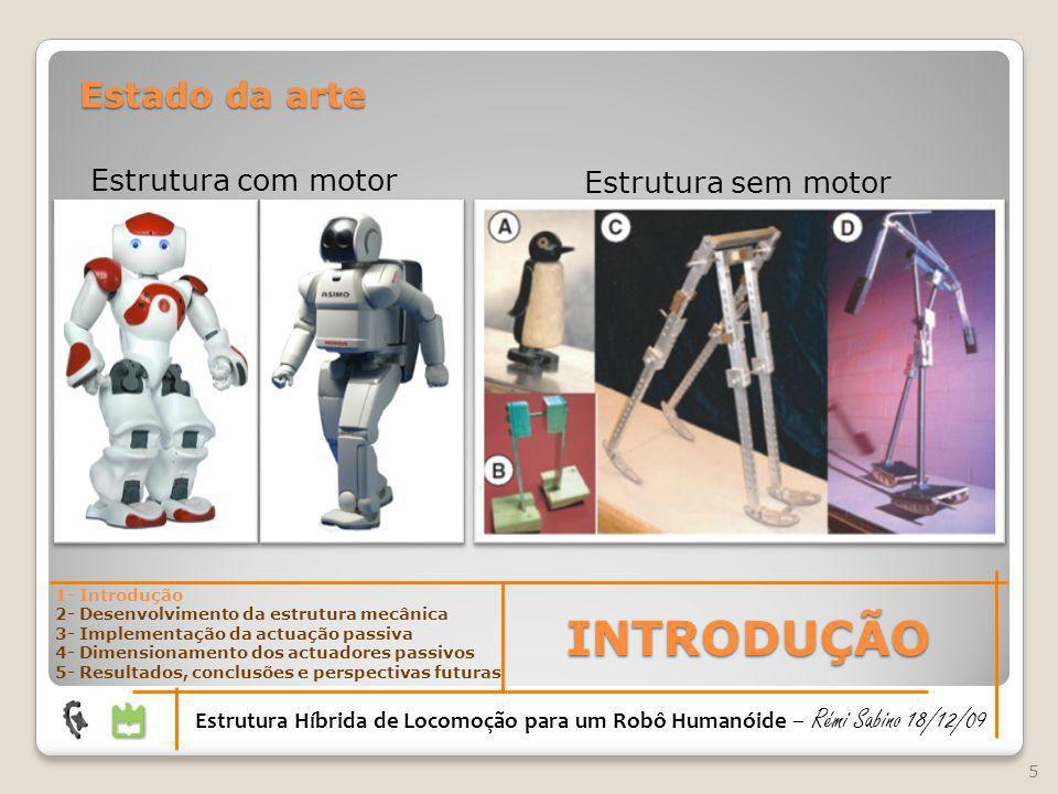 INTRODUÇÃO Estado da arte Estrutura com motor Estrutura sem motor