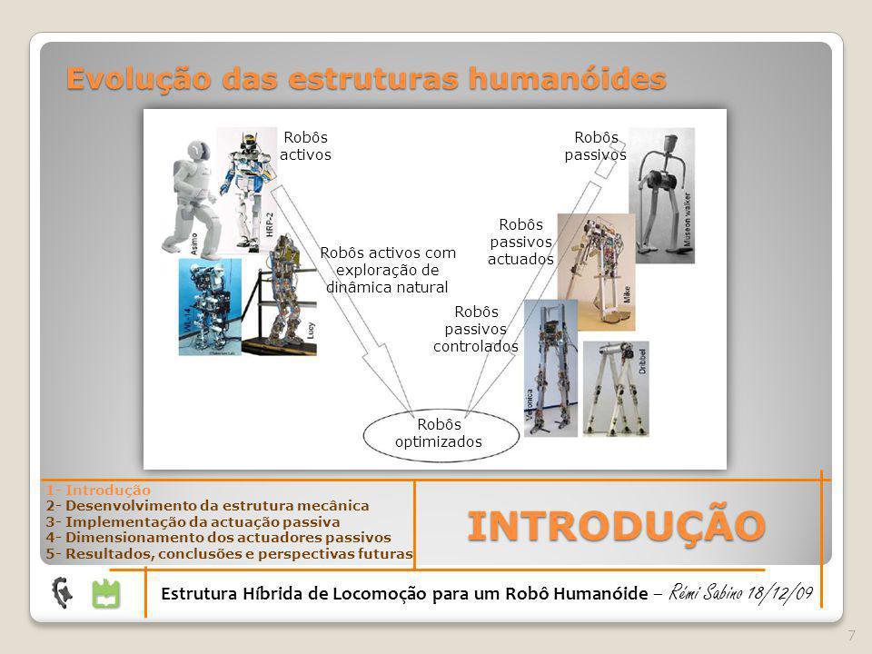 INTRODUÇÃO Evolução das estruturas humanóides