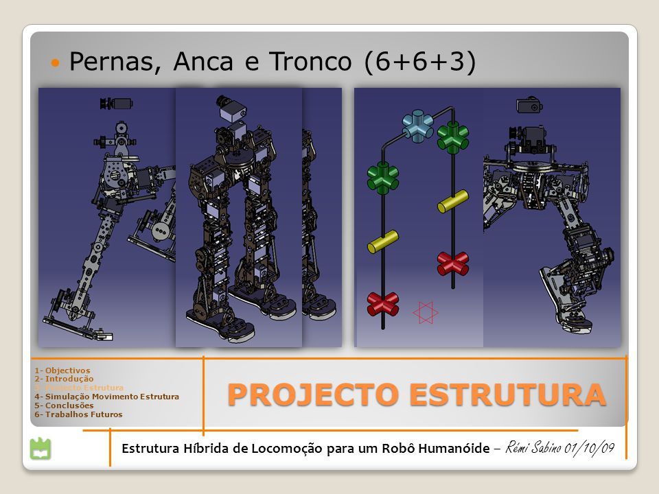 PROJECTO ESTRUTURA Pernas, Anca e Tronco (6+6+3)