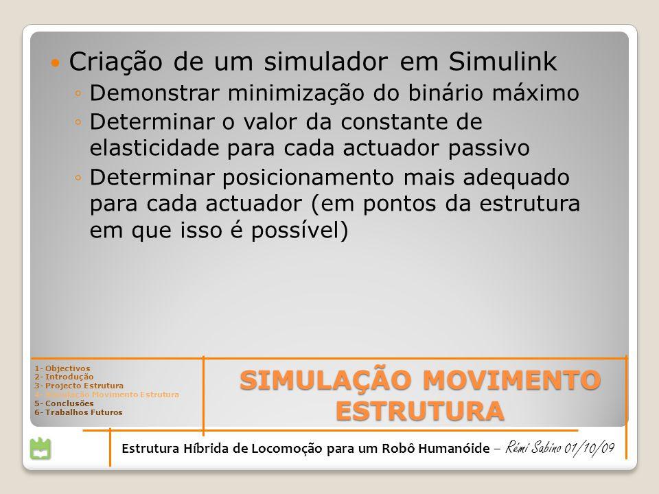 SIMULAÇÃO MOVIMENTO ESTRUTURA