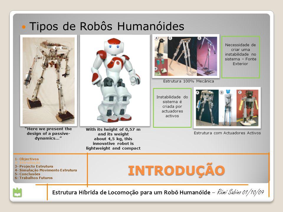 INTRODUÇÃO Tipos de Robôs Humanóides