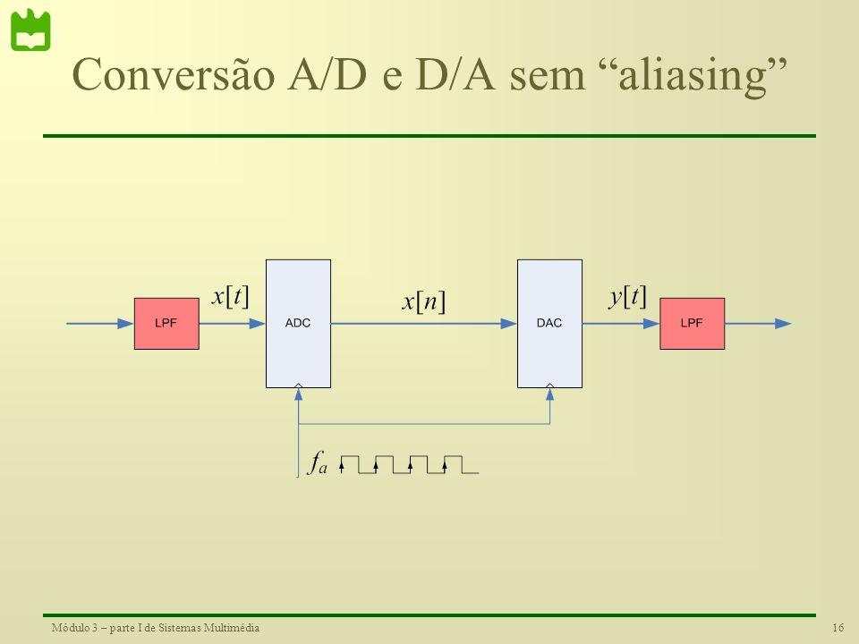 Conversão A/D e D/A sem aliasing
