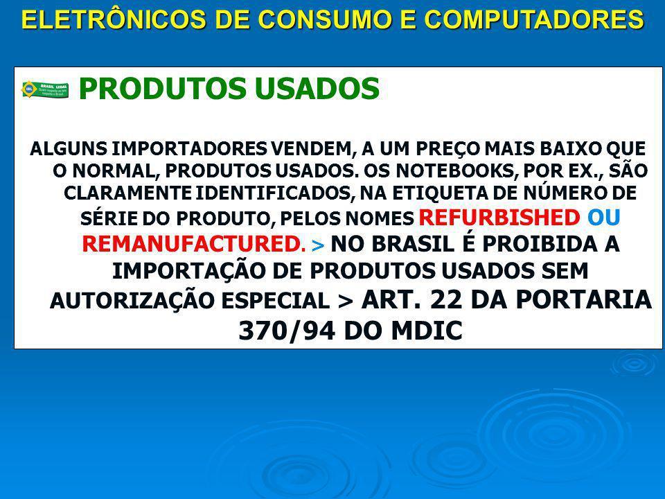 ELETRÔNICOS DE CONSUMO E COMPUTADORES