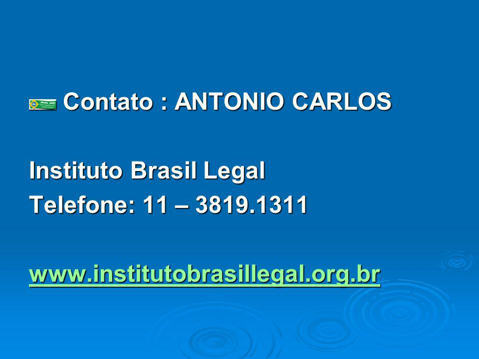 Instituto Brasil Legal Telefone: 11 – 3819.1311