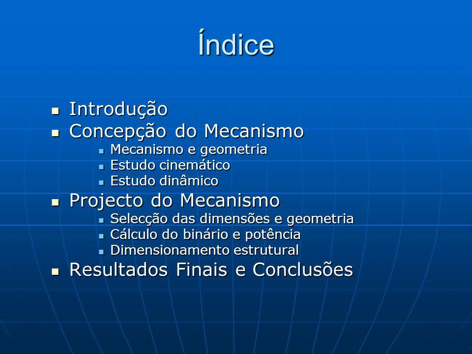 Índice Introdução Concepção do Mecanismo Projecto do Mecanismo