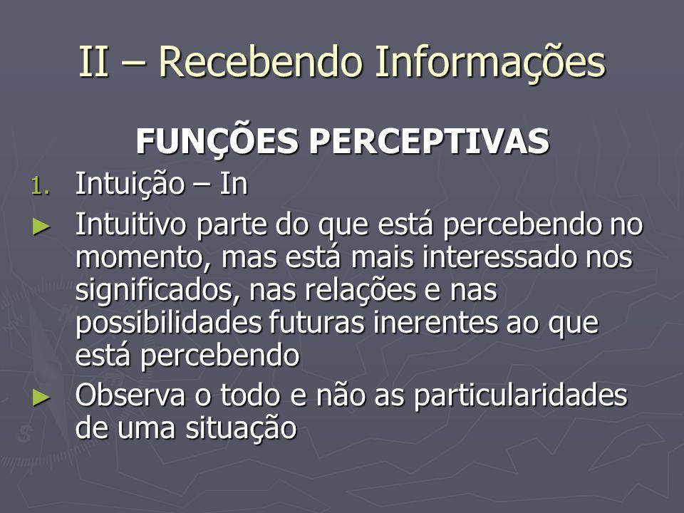 II – Recebendo Informações