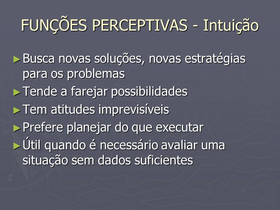 FUNÇÕES PERCEPTIVAS - Intuição