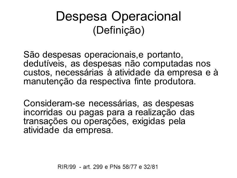 Despesa Operacional (Definição)