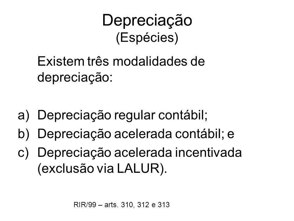 Depreciação (Espécies)