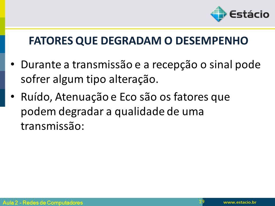 FATORES QUE DEGRADAM O DESEMPENHO